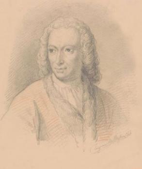 Portrait de Meindert Hobbema par Eugène Van Maldeghem (1823-1867)