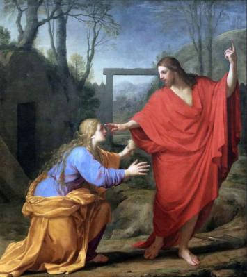 Eustache Le Sueur. L'Apparition du Christ à Madeleine (1651)