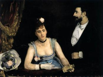 Eva Gonzalès. Une loge aux Italiens (1874)