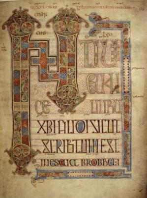 Évangéliaire de Lindisfarne (v. 690-721) folio 95r