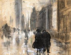 Everett Shinn. Fifth Avenue (1910)