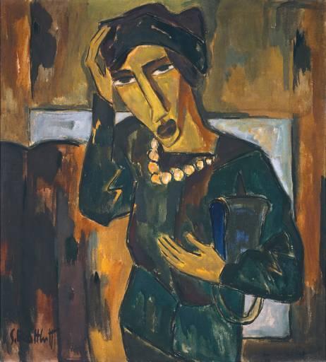 Schmidt-Rottluff. Femme avec un sac, 1915