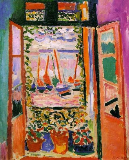 Matisse. Fenêtre ouverte à Collioure, 1905