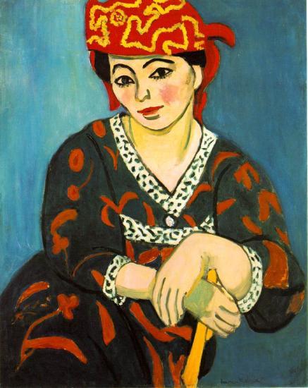 Matisse. Madame Matisse Madras rouge, 1907