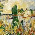 Vlaminck. Voilier sur la Seine, 1906