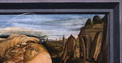 Filippo Lippi. Vierge à l'enfant et deux anges, détail