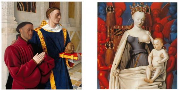 Jean Fouquet. Diptyque de Melun (1452-58)