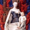 Fouquet. Diptyque de Melun. Vierge à l'enfant entourée d'anges (1452-58)
