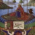 Fouquet. Heures d'Étienne Chevalier. Saint Jean à Patmos (1452-60)