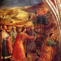 Fra Angelico. Fresques de la chapelle Nicoline. La lapidation de saint Etienne (1447-49)