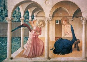 Fra Angelico. Fresques de San Marco. L'Annonciation (1442-43)