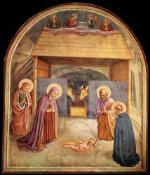 Fra Angelico. Fresques de San Marco. La nativité (1440-41)