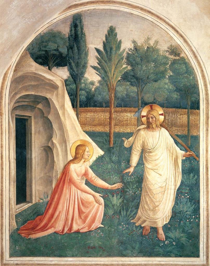 Ou est Morphée ? - Page 4 Fra-angelico-fresques-de-san-marco-noli-me-tangere-1440-41