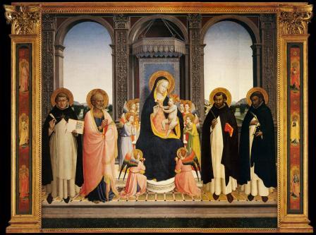 Fra Angelico. Retable San Domenico ou Pala di Fiesole (1423-24)