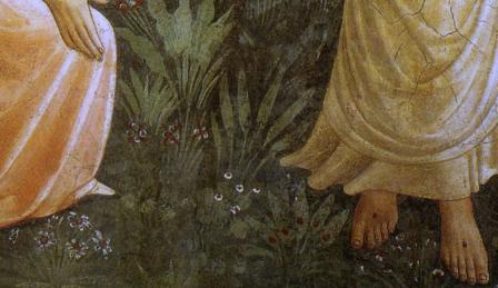 Fra Angelico. Noli me tangere, détail