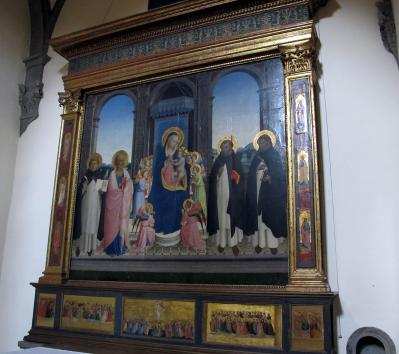 Fra Angelico. Retable San Domenico de Fiesole, vue d'ensemble (1423-24)