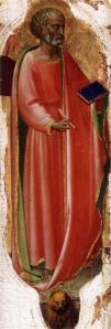 Fra Angelico. Retable San Domenico ou Pala di Fiesole, Saint Marc (1423-24)