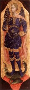 Fra Angelico. Retable San Domenico ou Pala di Fiesole, Saint Michel (1423-24)