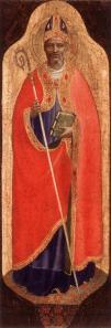 Fra Angelico. Retable San Domenico ou Pala di Fiesole, Saint Nicolas (1423-24)