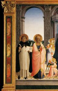 Fra Angelico. Retable San Domenico ou Pala di Fiesole, détail (1423-24)