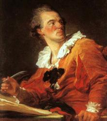 Fragonard. Inspiration, Autoportrait, 1769