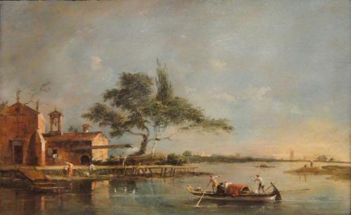 Francesco Guardi. L'île de la Madonnetta sur la lagune de Venise (1785-90)