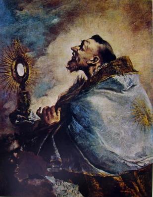 Francesco Guardi. Saint en extase ou Saint adorant l'Eucharistie (v. 1740)