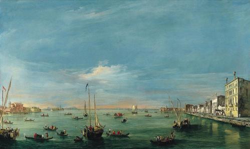 Francesco Guardi. Vue sur le canal de la Giudecca et le Zattere (1757-58)