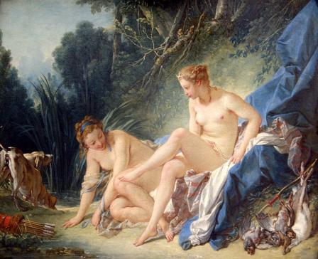 François Boucher. Diane sortant du bain (1742)