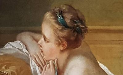 François Boucher. L'Odalisque blonde, détail