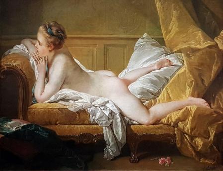 François Boucher. L'Odalisque blonde ou Jeune fille allongée (1751)