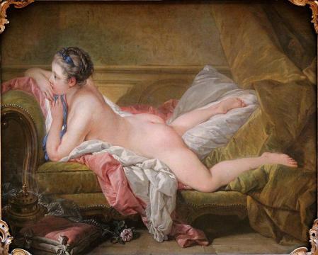 François Boucher. L'Odalisque blonde ou Jeune fille allongée (1752)