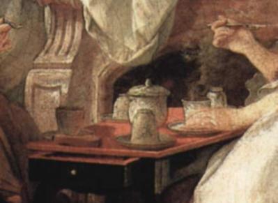 François Boucher. Le déjeuner, détail (1739)