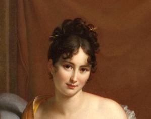 François Gérard. Juliette Récamier, détail