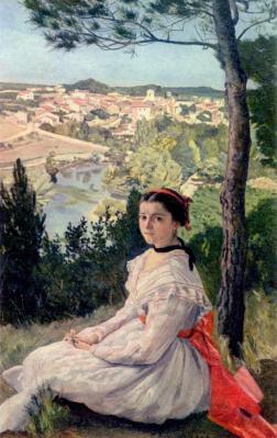 Frédéric Bazille. Vue de village (1868)