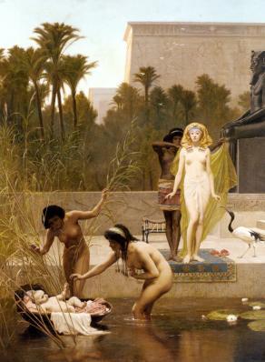 Frederick Goodall. La découverte de Moïse (1885)