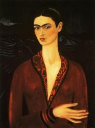 Frida Kahlo. Autoportrait à la robe de velours (1926)