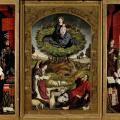 Nicolas Froment. Triptyque du Buisson ardent (1475-76). Les trois panneaux.