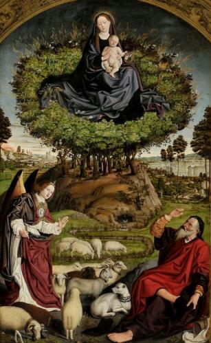 Nicolas Froment. Triptyque du buisson ardent, panneau central (1475-76)