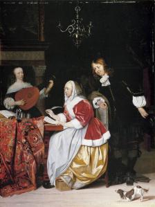 Gabriel Metsu. Jeune femme composant de la musique (v. 1664)