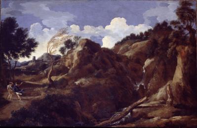 Gaspard Dughet. Paysage de montagne avec menace d'orage (1638-39)