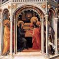 Gentile da Fabriano. L'Adoration des Mages, Présentation au temple (1423)