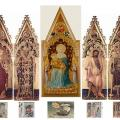 Gentile da Fabriano. Polyptyque Quaratesi, reconstitution numérique (1425)