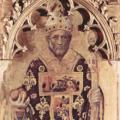 Gentile da Fabriano. Polyptyque Quaratesi, saint Nicolas de Bari (1425)