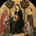 Gentile da Fabriano. Vierge à l'enfant entre saint Nicolas et sainte Catherine (1395-1400)