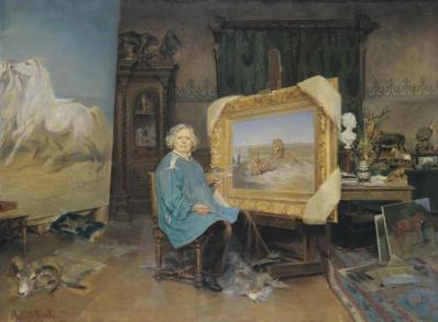 Georges Achille-Fould. Rosa Bonheur dans son atelier (1893)