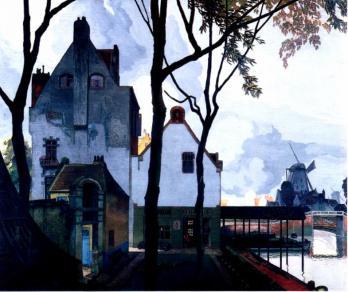 Georges de Feure. Atelier à côté d'un canal