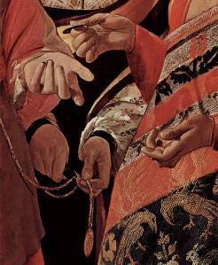 Georges de la Tour. La Diseuse de bonne aventure, détail
