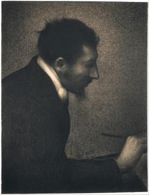 Georges Seurat. Portrait d'Edmond Aman-Jean (1882-83)