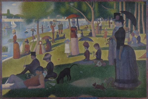 Georges Seurat. Un dimanche après-midi sur l'île de la Grande Jatte (1884-86)